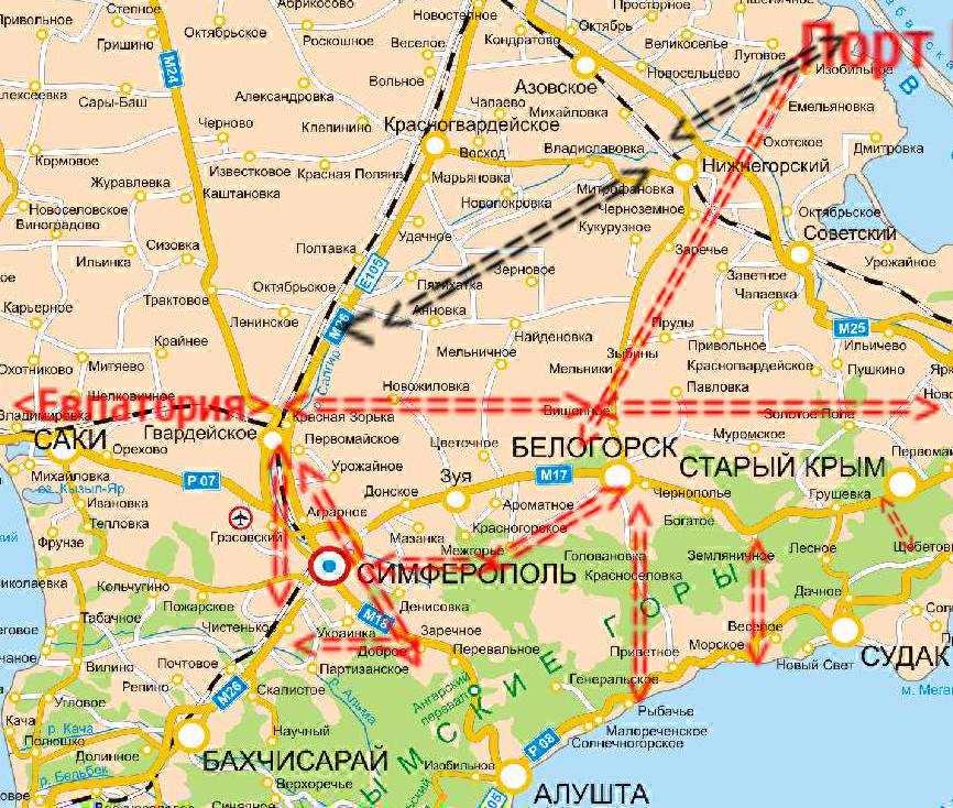 Ячеистая транспортная система Крыма с развитием локальных центров экономики, культуры и туризма