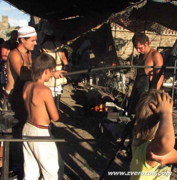 Город мастеров в Судакской генуэзской крепости. Средневековая кузня