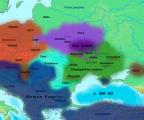 3 век. Карта расселения германских, балтийских, славянских и других варварских племен в 200 году по римским источникам и археологическим находкам, предположения большинства историков