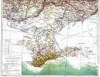 Таврическая губерния Российской империи, карта из энциклопедии Брокгауза и Ефрона