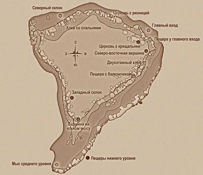 План пещерного городе Тепе-кермен