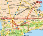 Ячеистая транспортная система Крыма с децентрализацией, разгрузкой Симферополя (дублер столицы Гвардейское) и десятком новых локальных центров экономики и туризма