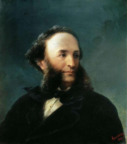 Иван Константинович Айвазовский, автопортрет 1874