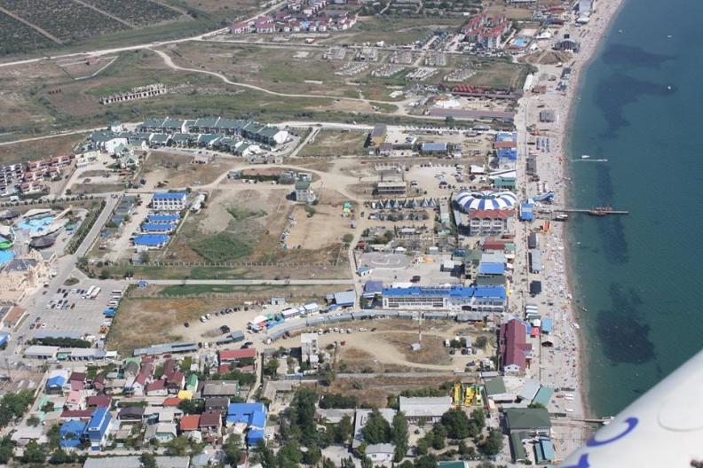 Новая застройка Коктебеля в районе Аквапарка, Дельфинария и нудистского пляжа