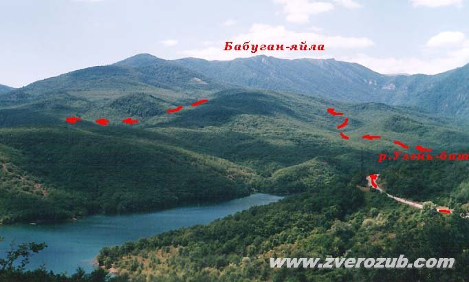 Кольцевой маршрут к роднику Ай-Йори на склоне Бабуган-яйлы над Алуштой