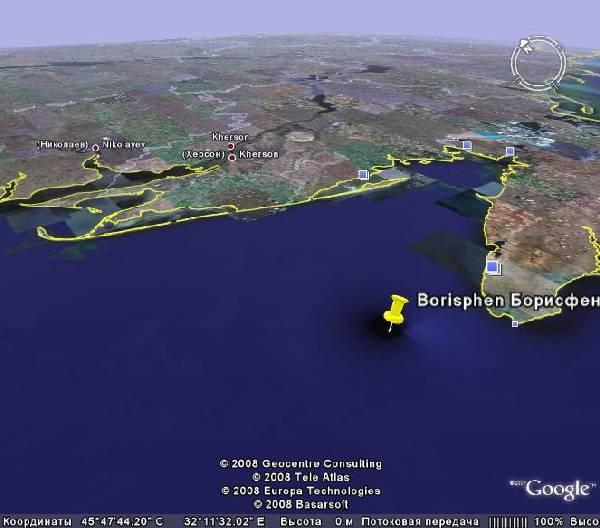 где искать античный город Борисфен, в котором побывал Геродот? На дне Черного моря