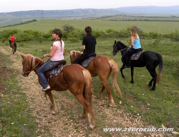 Конные прогулки от Денисовской страусиной фермы к югу от Симферополя, долина реки Малый Салгир и вид на Долгоруковскую яйлу