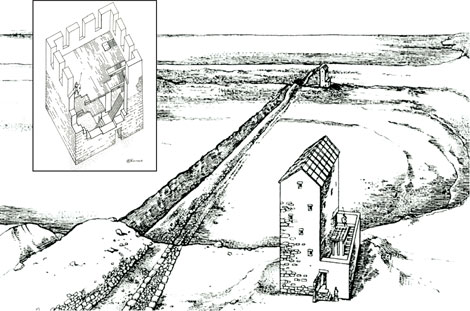 Рвы на Керченском полуострове с крепостными стенами и башнями. Главная цель - сбор пшеницы.