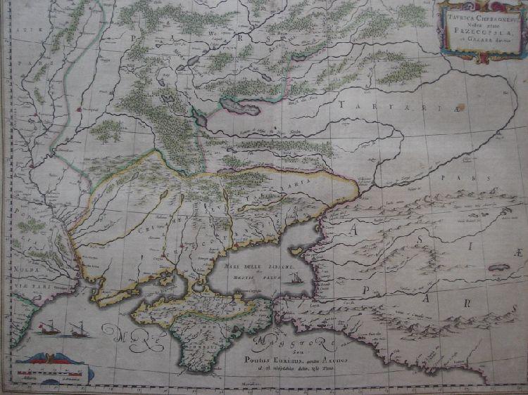 Карта Крымского ханства из коллекции музея Ларишес показывает на Южном Буге и Днепре города, примерно на месте нынешнего Николаева и Херсона. Был город и на месте Очакова и множество небольших крепостей и портов.