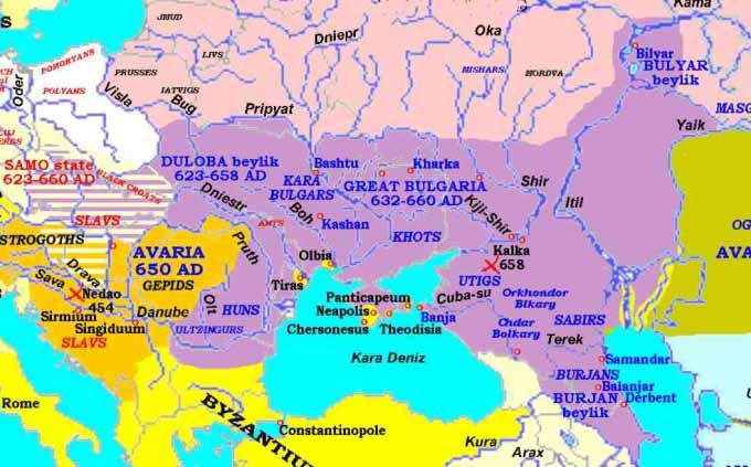 Раннее средневековье в Северном Причерноморье и окружающих землях, расселение племенных союзов в период от нашествия гуннов до Аварского каганата
