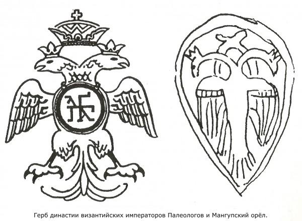 Герб византийской династии Палеолог и двухглавый орел на гербе крымского княжества Феодоро