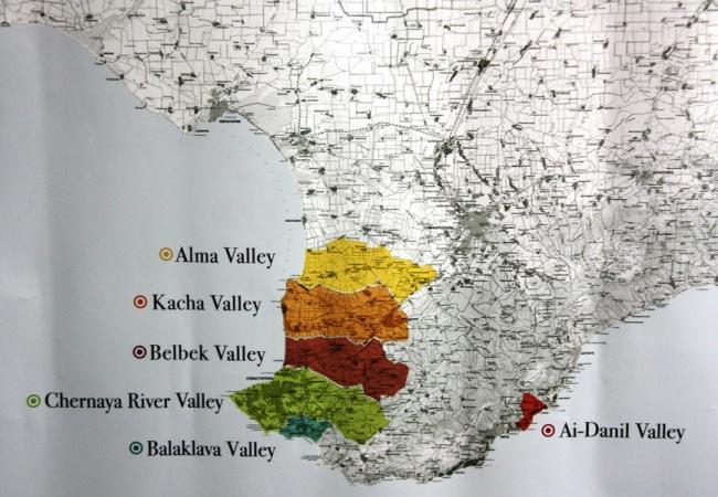 Винодельческие регионы Юго-западного Крыма - основная база качественных натуральных вин