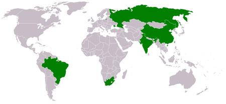 BRICS сокращение от Brazil, Russia, India, China, South Africa) — группа из пяти стран: Бразилия, Россия, Индия, Китай, Южно-Африканская Республика.