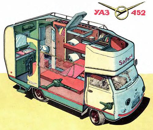 автодом на базе УАЗ-452 компоновка
