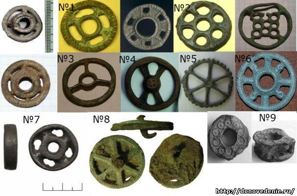 древние солярные колесики из бронзы