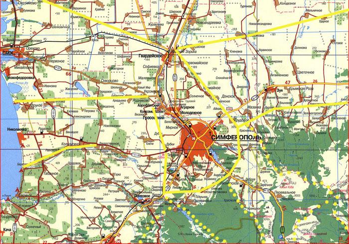 Большой Симферополь. Перспективная транспортная схема объездных дорог, федеральная трасса Таврида, платные маршруты для внедорожников, морские курорты