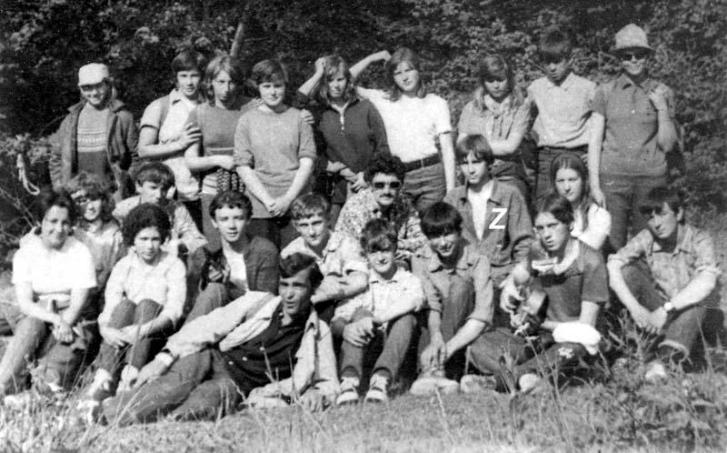 1972 год. Сборный туристический отряд 7-9 классов средней школы № 8 Симферополя, участники общекрымского звездного похода