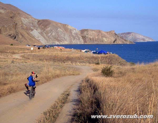 к диким пляжам Тихой бухты на велосипеде!