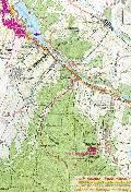 карта маршрута Салгирская петля: Симферополь ж.д. вокзал - Пионерское - Лозовое - водохранилище - парки Симферополя