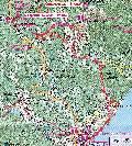 карта маршрута Ангарский перевал - Фуна - Долина Привидений - Лучистое - Эврика - Алушта