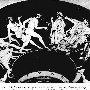 Геракл в скифском костюме, Гермес, Гера и сатиры