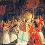 Греки в храме принимают благословение на восстание против турков