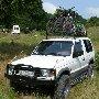 крепление 4 горных велосипедов на багажнике джипа