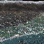 Приморский пляж, Приморский парк и прилегающие улицы Ялты (Чайная горка) на снимках Гугл Земля